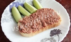 Рецепт приготовления паштета из свиной печени в духовке для кормящей мамы