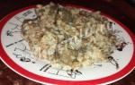Печень говяжья с гречкой для кормящей мамы в мультиварке