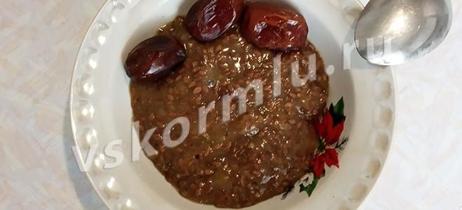Рецепт льняной каши с финиками для мамы на грудном вскармливании