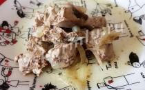 Тушеная куриная печень в духовке для кормящей мамы