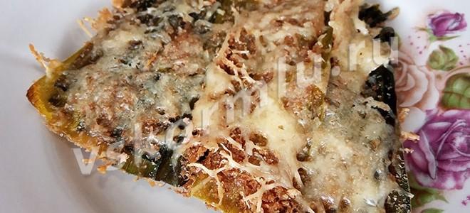 Рецепт запеканки с луком-пореем в духовке для кормящей мамы