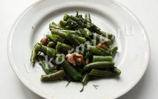 Салат из стручковой фасоли для кормящей мамы