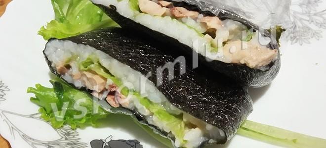 Суши-бутерброд для кормящей мамы