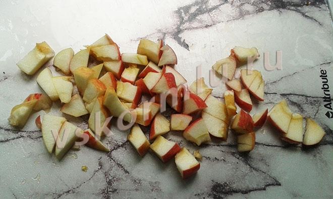 порезанное яблоко
