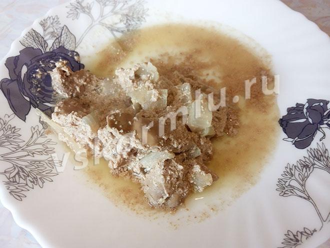 Рецепт куриной печени в сметане для кормящей мамы