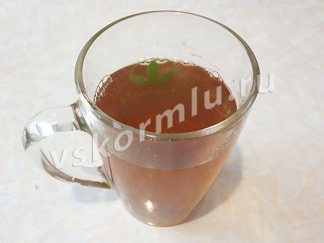 Полезный укропный чай готов