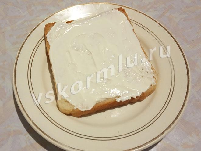 Хлеб со сметаной
