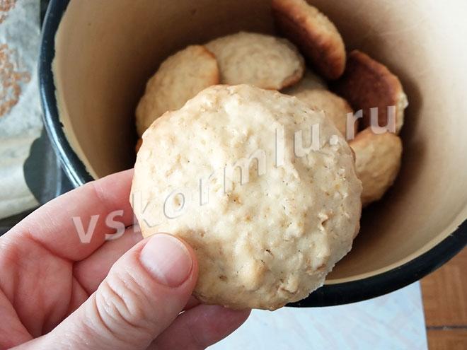 Домашнее овсяное печенье - отличная альтернатива магазинному для мамы при ГВ