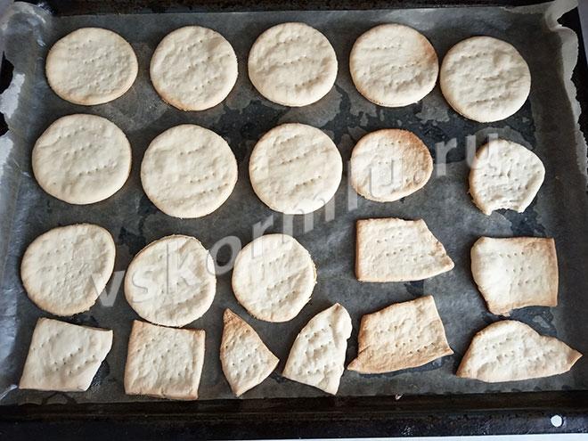 Время выпечки зависит от толщины печенья