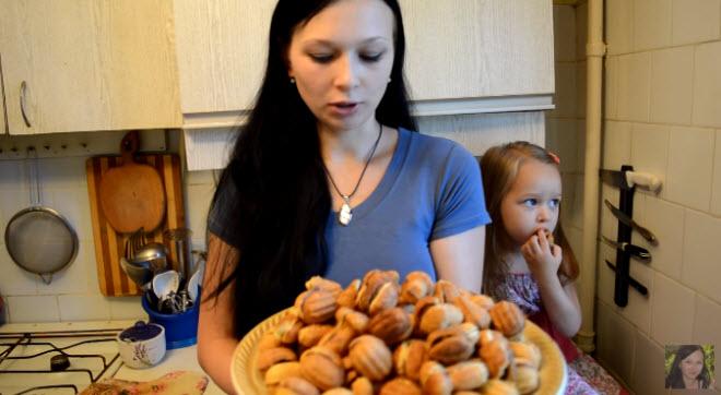 Вот такие замечательные орешки с вареной сгущенкой для кормящих мам получились
