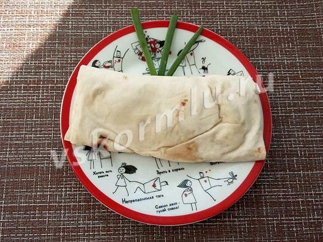 Мой ужин на четвертый день очищения организма: шаурма