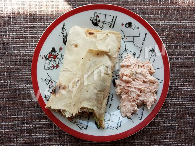 шаурма и лосось